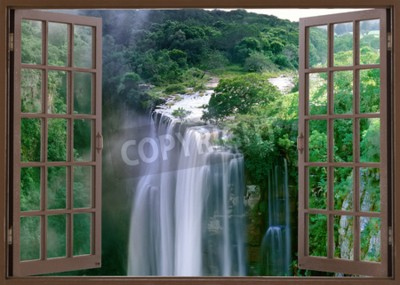 Fototapete Open window to spectacular Magwa Falls near Mbotyi Cape Province South Africa