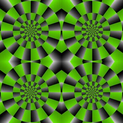 Fototapete Optische Täuschung Spin Cycle, Vektor abstrakten Hintergrund.