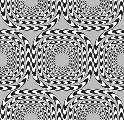Fototapete optische täuschung  Optische täuschung, vector seamless pattern hintergrund, quadrate ...