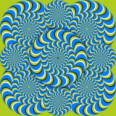 Fototapete optische Täuschung Welle Kreise
