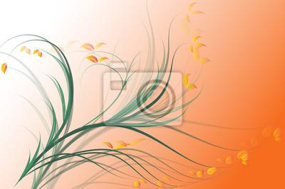 Orange abstract sunny