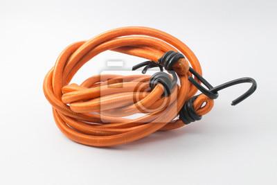 orange color elastic rope with hook