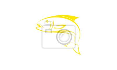 Orange Fisch Logo Vorlage Fototapete Fototapeten Gill
