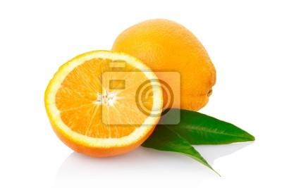 Orange Frucht mit Clipping-Pfad