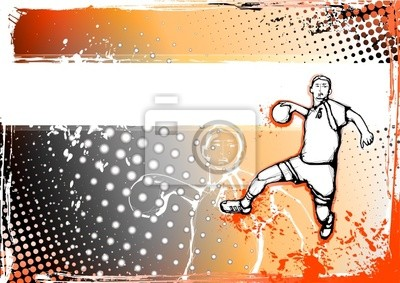 Orange handball Hintergrund