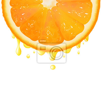 Orange segment Mit Saft