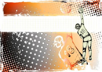 Orange Volleyball Hintergrund