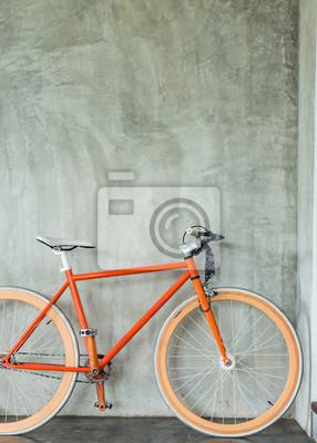 Fototapete Orangen Fahrrad Geparkt Dekorieren Innenraum Wohnzimmer Modernen  Stil