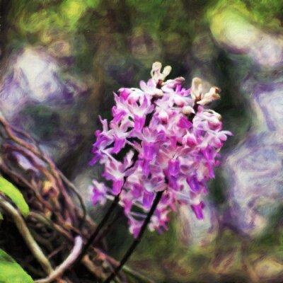 Orchidee / Ölgemälde-Fotoeffekt