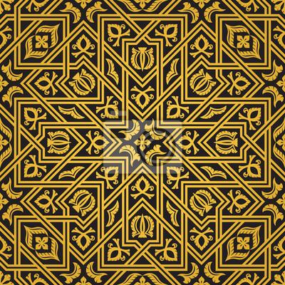 Orient Muster Wandposter Poster Usbekistan