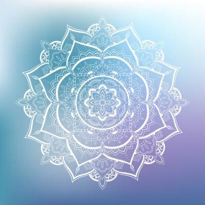 Fototapete Ornamental circle pattern. Mandala