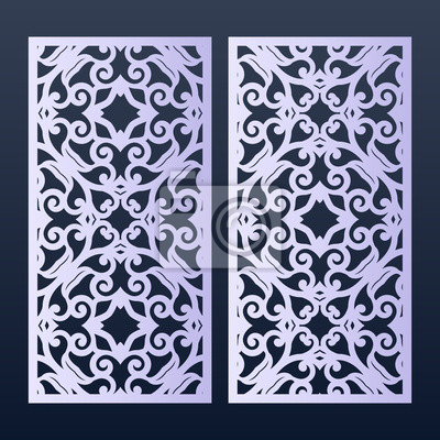 Ornamental Panels Template For Cutting May Be Use For Laser