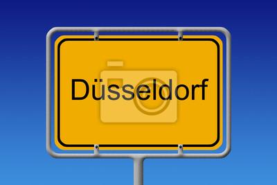 Ortsschild Düsseldorf