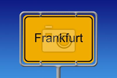 Ortsschild Frankfurt