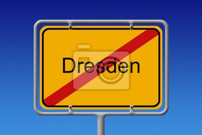 Ortsschild Ortsausgang Dresden