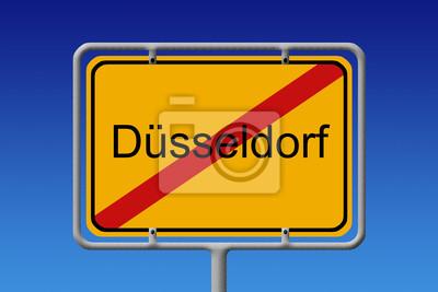 Ortsschild Ortsausgang Düsseldorf