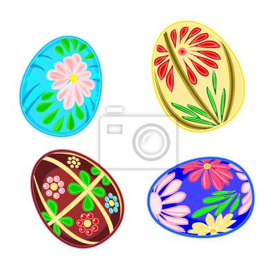 Ostereier mit Blumenmuster