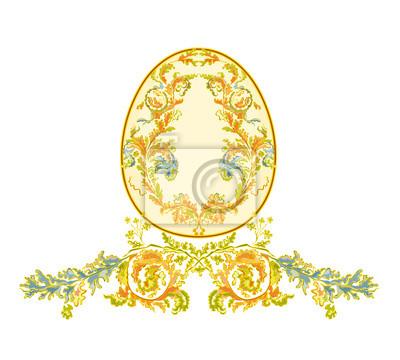 Ostereier mit Ornamenten Vintage