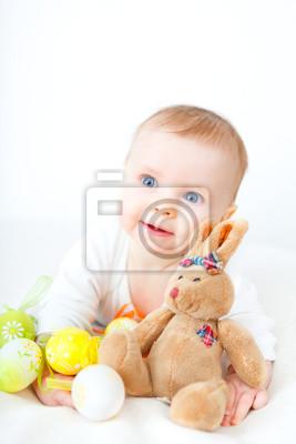 Fototapete Ostern Baby