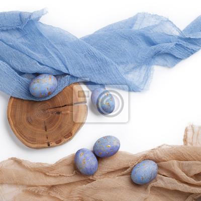 Ostern Gesprenkelte Blaue Eier Fototapete Fototapeten Violett