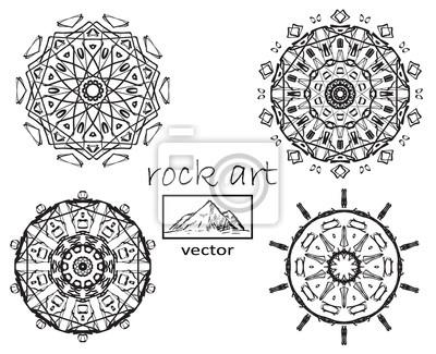 Fototapete: Outline mandala for coloring book. decorative round ornament.