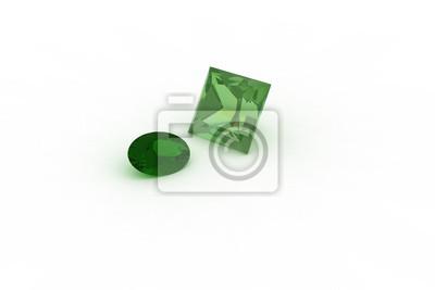 Oval Und Princess Cut Smaragd Stones Hohe Auflosung Fototapete