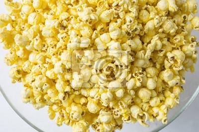 Overhead Ansicht einer Schüssel Popcorn