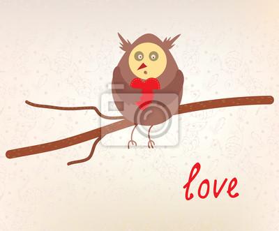 Owl Liebe valentinskarte lustige Design