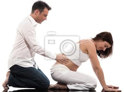 Paar erwartet Baby-Massage