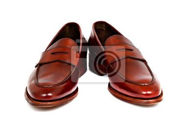 Fototapete Paar Leder Kirsche Kalb Penny Loafer Schuhe zusammen in Winkel b1e8d61c48