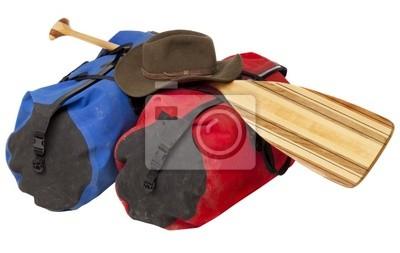Paddel, Hut und Gepäck wasserdicht