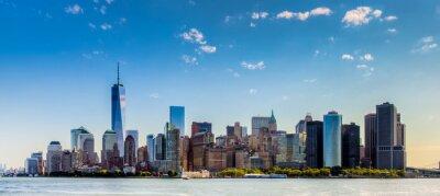 Fototapete Paesaggio di Città di new york con grattaciel