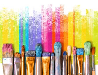 Fototapete Paintbrush art paint creativity craft backgrounds exhibition
