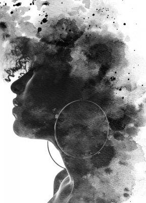 Fototapete Paintography portrait of a young woman