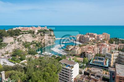 Palast Von Monaco Gesehen Vom Exotischen Garten Fototapete