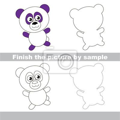 Panda. zeichnung arbeitsblatt. fototapete • fototapeten Tutorial ...