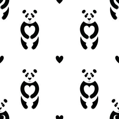Fototapete Pandamuster 6