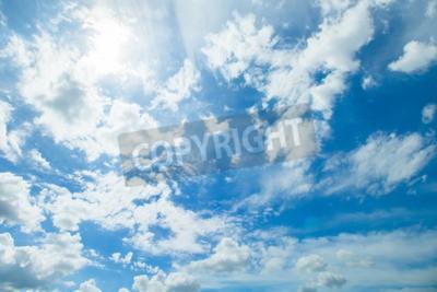 Fototapete Panorama-Aufnahme von blauem Himmel und Wolken in guten Wetter Tagen