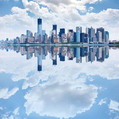 Fototapete Panorama-Bild der Skyline von Lower Manhattan