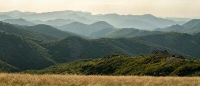 Fototapete Panorama der Berge