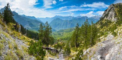 Fototapete Panorama der Berge im Norden von Albanien