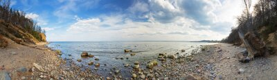 Fototapete Panorama der Ostsee an der Orlowo Klippe, Polen
