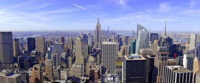 Fototapete Panorama der Skyline von Manhattan in New York City, USA
