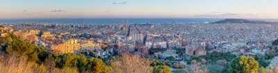 Fototapete Panorama of Barcelona