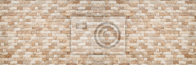 Fototapete panorama of brown Slate Marble Split Face Mosaic  pattern and background