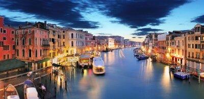 Fototapete Panorama of Venice from Rialto bridge