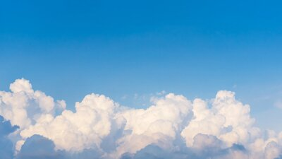 Fototapete Panorama top of clouds and blue sky background
