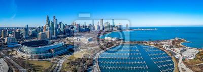 Fototapete Panoramic shot of Chicago skyline