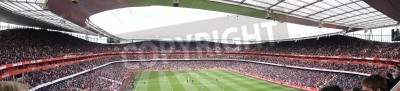 Fototapete Panoramic View of Arsenal V Chelsea 0-0 draw football/soccer match played on 21st April 2012, Emirates Stadium,  London, England