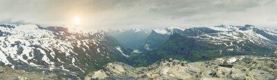Fototapete Panoramische Ansicht Auf Norwegen Gebirgslandschaft